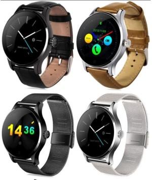 Harga smartwatch lemfo k88h jam tangan android smart watch kulit stainless   hitam   HARGALOKA.COM