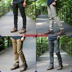 Harga celana chino high quality   hitam | HARGALOKA.COM