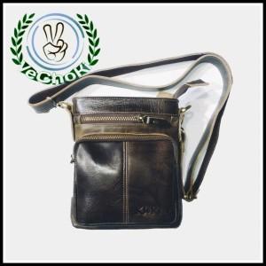 Harga tas selempang pria full kulit sapi asli   kickers tk210340   | HARGALOKA.COM