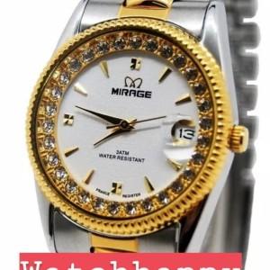 Harga jam tangan wanita mirage rx comb original silver gold white   HARGALOKA.COM