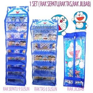 Harga rak gantung set 3 in 1 paket rak tas sepatu jilbab   keropi | HARGALOKA.COM