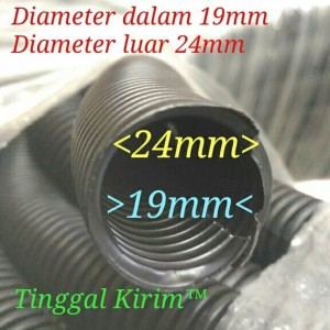 Harga selang fleksibel belah 19mm untuk membungkus merapihkan macam2 | HARGALOKA.COM