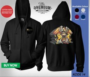 Harga jaket sweater zipper band queen | HARGALOKA.COM