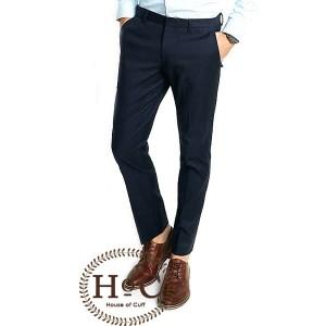 Harga celana kerja pria slim fit formal bahan houseofcuff biru navy   | HARGALOKA.COM