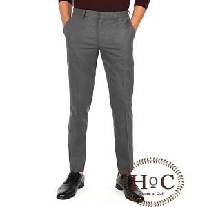 Harga celana kerja pria slim fit formal bahan houseofcuff abu tua   | HARGALOKA.COM