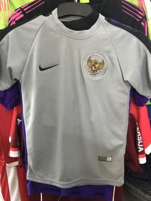 Harga jersey kiper indonesia kids abu abu baju bola anak 2018 2019 top | HARGALOKA.COM