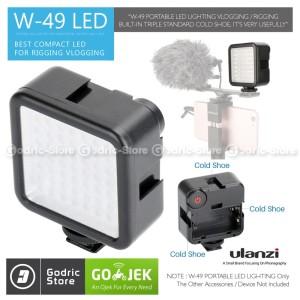 Harga ulanzi w49 video light led w 49 lampu studio foto dslr smartphone | HARGALOKA.COM