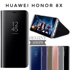 Harga flip cover huawei honor 8x mirror case standing | HARGALOKA.COM