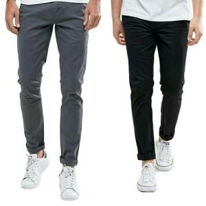 Harga celana chino panjang pria slimfit stretch model terbaru murah   abu abu muda   HARGALOKA.COM
