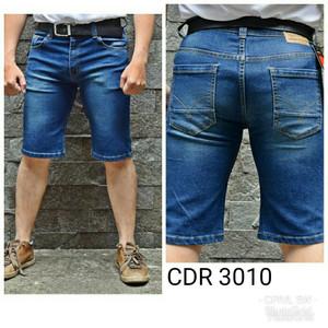 Harga celana pendek jins pria bahan stretch karet melar elastis terbaru   | HARGALOKA.COM