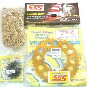 Harga gearset sss yamaha r25 mt25 gold aluminium | HARGALOKA.COM