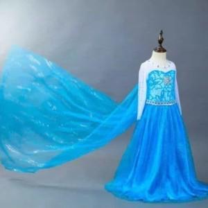 Harga baju kostum anak frozen elsa dress gaun pesta ultah   | HARGALOKA.COM