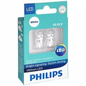Harga philips ultinon led t10 6000k   lampu senja mobil motor white | HARGALOKA.COM