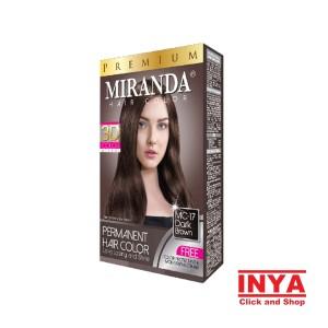 Harga semir rambut miranda mc 17 dark brown   pewarna rambut 30mlx2 | HARGALOKA.COM