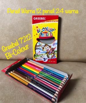 Harga atk0232gb 7212 bi colour 12 pensil dapat 24 warna greebel grebel | HARGALOKA.COM