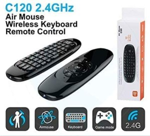 Harga c120 2 4g air mouse wireless keyboard remote control for android | HARGALOKA.COM