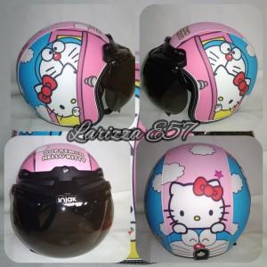 Harga helm bogo retro dewasa motif hello kitty   HARGALOKA.COM