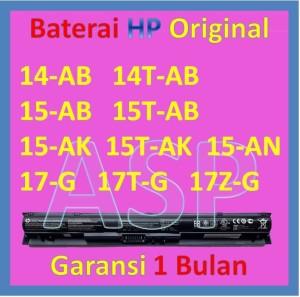 Harga baterai laptop hp 14 ab 15 ab 15 ak 15 an 17 g ki04 original | HARGALOKA.COM