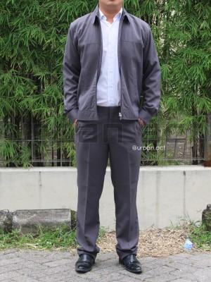 Harga setelan jaket zipper dan celana panjang slim fit abu muda urban | HARGALOKA.COM