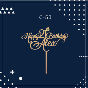 Harga cake topper hiasan kue ulang tahun birthday topper | HARGALOKA.COM