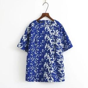 Harga a134341 baju blouse cewek biru dongker batik modern formal kerja | HARGALOKA.COM