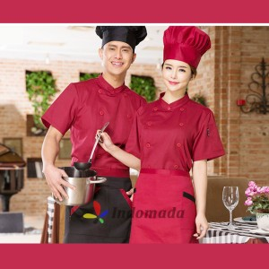 Harga seragam baju koki chef profesional chef apparel unisex pria wanita   merah | HARGALOKA.COM