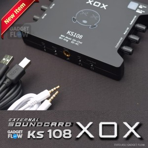 Harga soundcard xox ks108 external usb sound card recording | HARGALOKA.COM