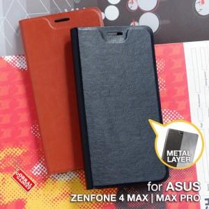 Harga leather flip case asus zenfone 4 max pro zc554kl soft flipcase cover   cokelat   HARGALOKA.COM