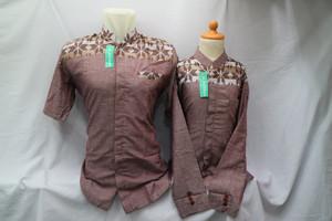 Harga baju muslim baju koko jasko jas koko couple ayah anak terbaru cpps 031   merah muda   HARGALOKA.COM