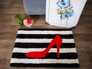 Harga keset kaki handtuft halus unik gambar heels 40x60 | HARGALOKA.COM