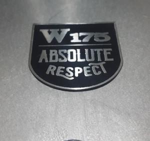 Katalog Emblem Kawasaki W175 Absolute Respect Stainless Custom Katalog.or.id