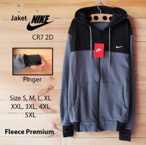 Harga jaket premium nike cr7 hitam abu size s m l xl xxl 3xl 4xl 5xl   hitam abu   HARGALOKA.COM