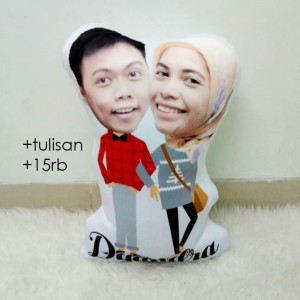 Harga bantal foto karikatur custom   small couple series no 6 35 cm | HARGALOKA.COM