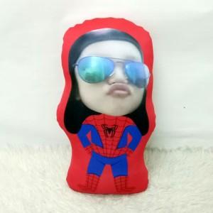 Harga bantal boneka foto karikatur custom   xtralarge spiderman 70cm | HARGALOKA.COM