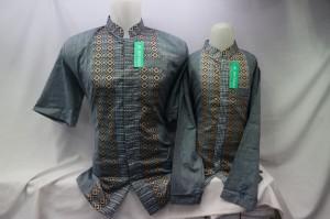 Harga jasko jas koko baju muslim baju koko biru couple ayah anak terbaru   biru muda   HARGALOKA.COM