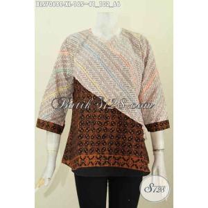 Harga atasan batik wanita blus batik kantor blouse cantik size xl | HARGALOKA.COM