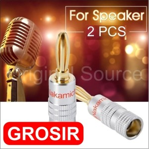 Harga grosir 2pcs jack connector plug adapter audio speaker nakamichi   | HARGALOKA.COM