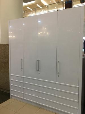 Harga lemari pakaian baju 4pintu putih export surabaya dan jawa | HARGALOKA.COM