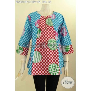 Harga batik blouse wanita model lengan 7 8 motif bagus size l | HARGALOKA.COM
