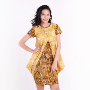 Harga batik pria tampan   dress raema gold spin a round kombinasi   gold | HARGALOKA.COM