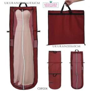 Harga tas pelindung baju pesta maron p155cm l cover gaun pengantin  cbp004   merah | HARGALOKA.COM