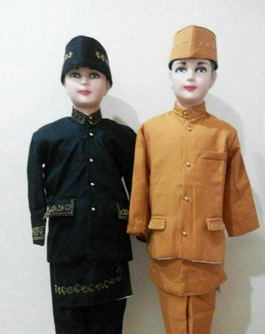 Harga baju adat anak baju betawi sunda anak   hitam | HARGALOKA.COM