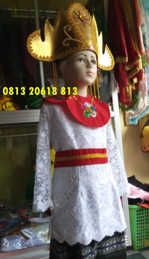 Harga lampung paud tk baju adat karnaval kostum tari anak wanita | HARGALOKA.COM