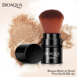 Harga bioaqua makeup brush kuas blush on tabung bedak tabur | HARGALOKA.COM