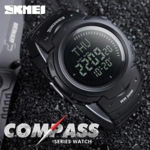 Harga jam tangan skmei compass 1231 full hitam original impor tahan air   HARGALOKA.COM