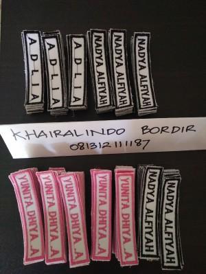 Harga papan nama bordir atribut sekolah name | HARGALOKA.COM