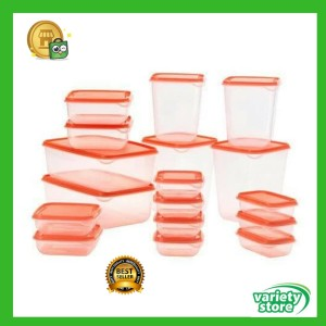 Harga paket hemat 17 toples makanan organizer kulkas tempat buah sayur | HARGALOKA.COM