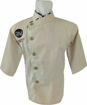 Harga baju koki baju chef warna krem kombinasi | HARGALOKA.COM