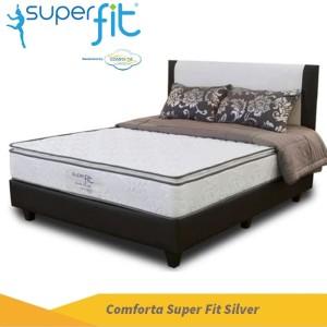 Harga comforta super fit silver 160x200 tanpa divan | HARGALOKA.COM
