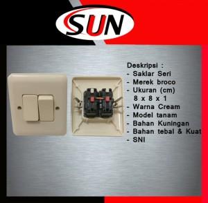 Harga saklar seri 2 pencetan lampu ib broco new gee cream tanam | HARGALOKA.COM